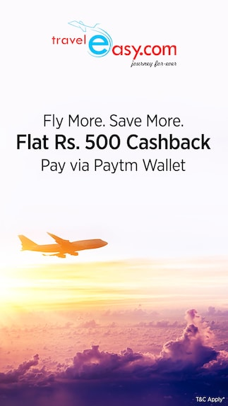 Get Rs.500 cashback when you pay via Paytm Wallet