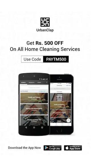 Rs.500 discount @Urbanclap