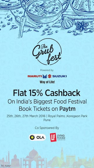 The Grub Fest 2016 - India's Biggest Food and Music Event @ Royal Palms , Koregaon Park, Pune (27th March 2016)