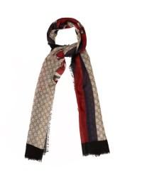 Snake-print wool scarf   Gucci   MATCHESFASHION.COM UK