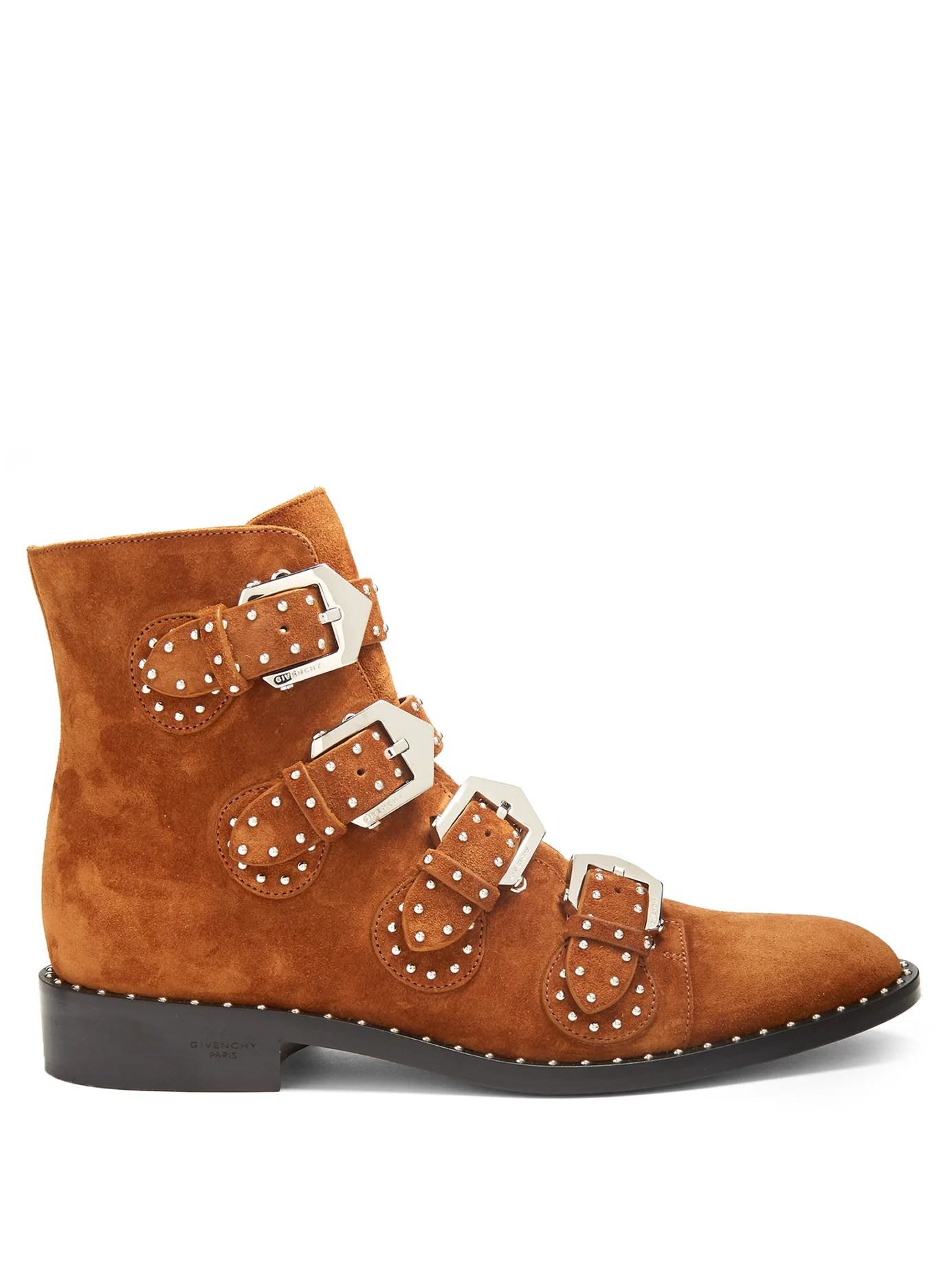 Elegant Studded Suede Ankle Boots By Givenchy Shoes Online