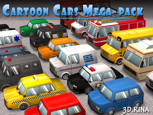 Cartoon Cars Mega-Pack - Asset Store