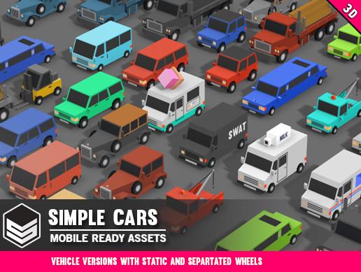 Simple Cars - Cartoon Vehicles - Asset Store