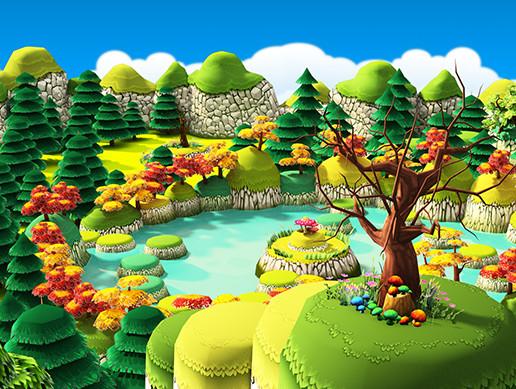 3d Wallpaper Maker App Cartoon Forest Pack Asset Store