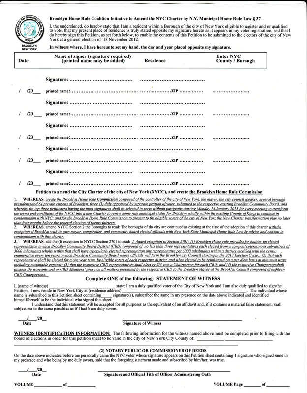 BHRC Initiative - PETITION - SURETY NO MORE - creating signers form for petition