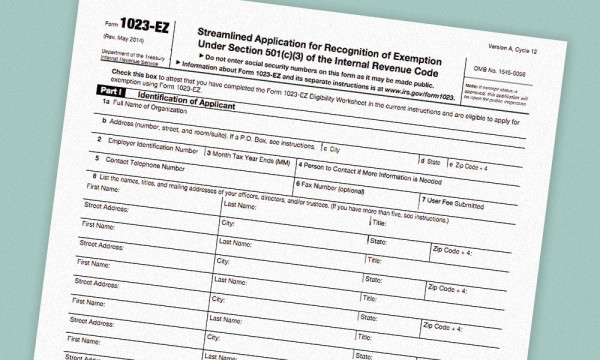 IRS Introduces New Short Application Form for 501(c)(3) Tax