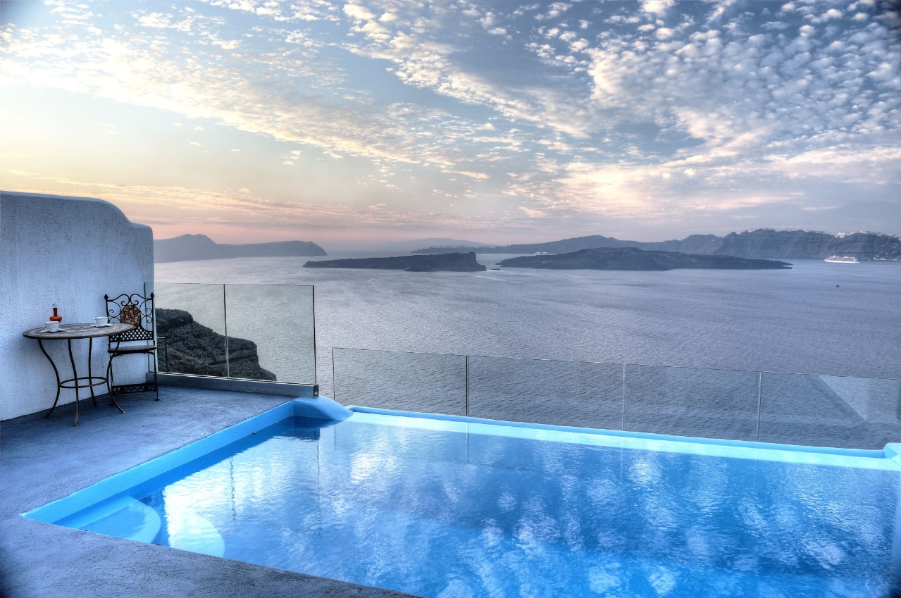 Luxus Outdoor Pool Santorini Luxury Boutique Hotel In Santorini Astarte Suites