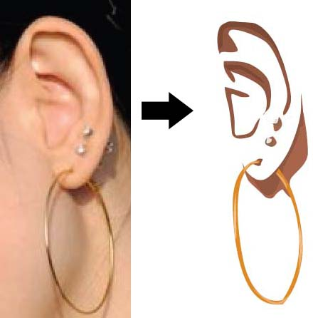 Gambar15.20. Hasil tracing telinga