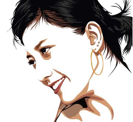 Gambar 15.24. hasil tracing bayangan kerut wajah