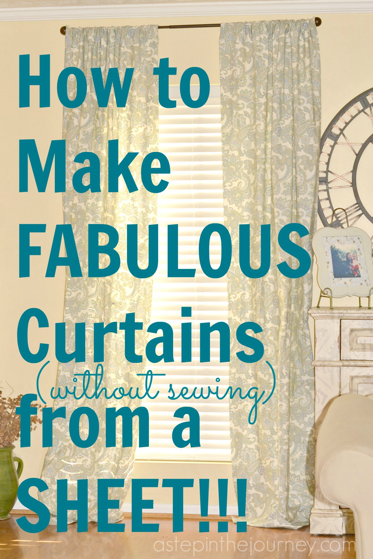 Make Curtains Fabulous Curtains From A Twin Size Sheet