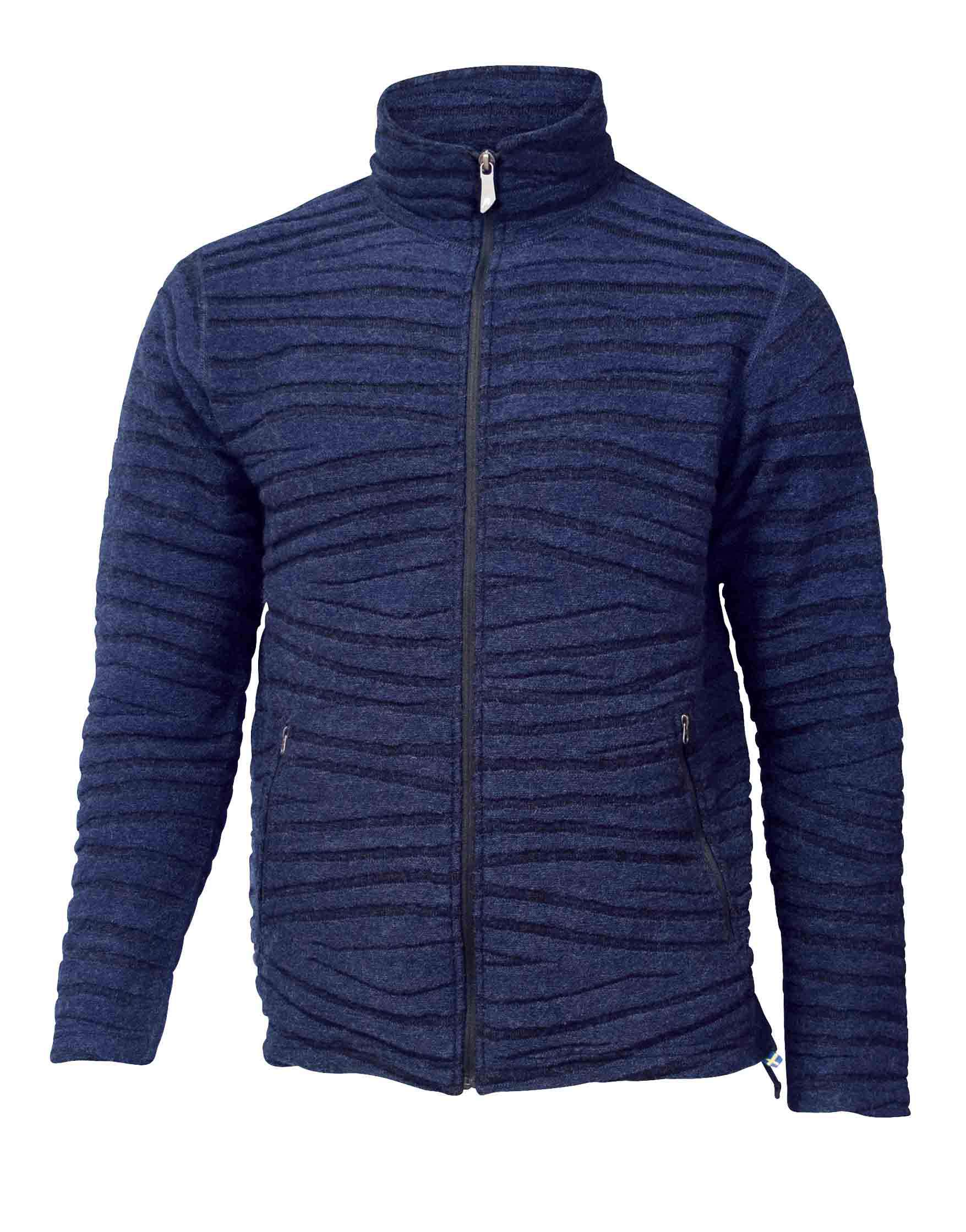 C En A Vesten Cardigan Wool Tencel Navy Wave M Xl Asterra
