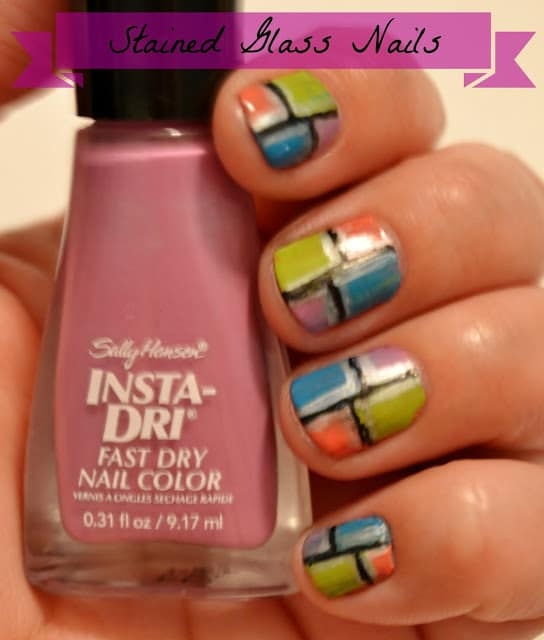 {Makeup Monday} Stained Glass Nails