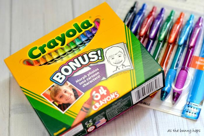 Stock up on crayons, gel pens, highlighters and colored pencils to use during crafting when it's back to school season. #SavingsCatcher