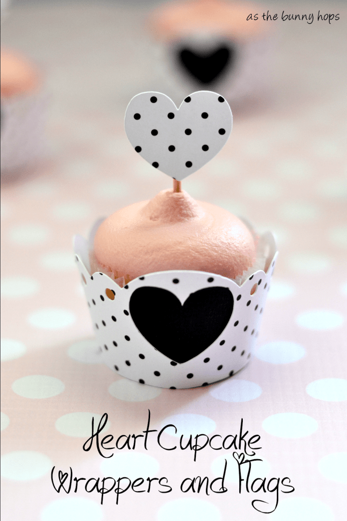Make adorable heart cupcake wrappers and flags with your silhouette!
