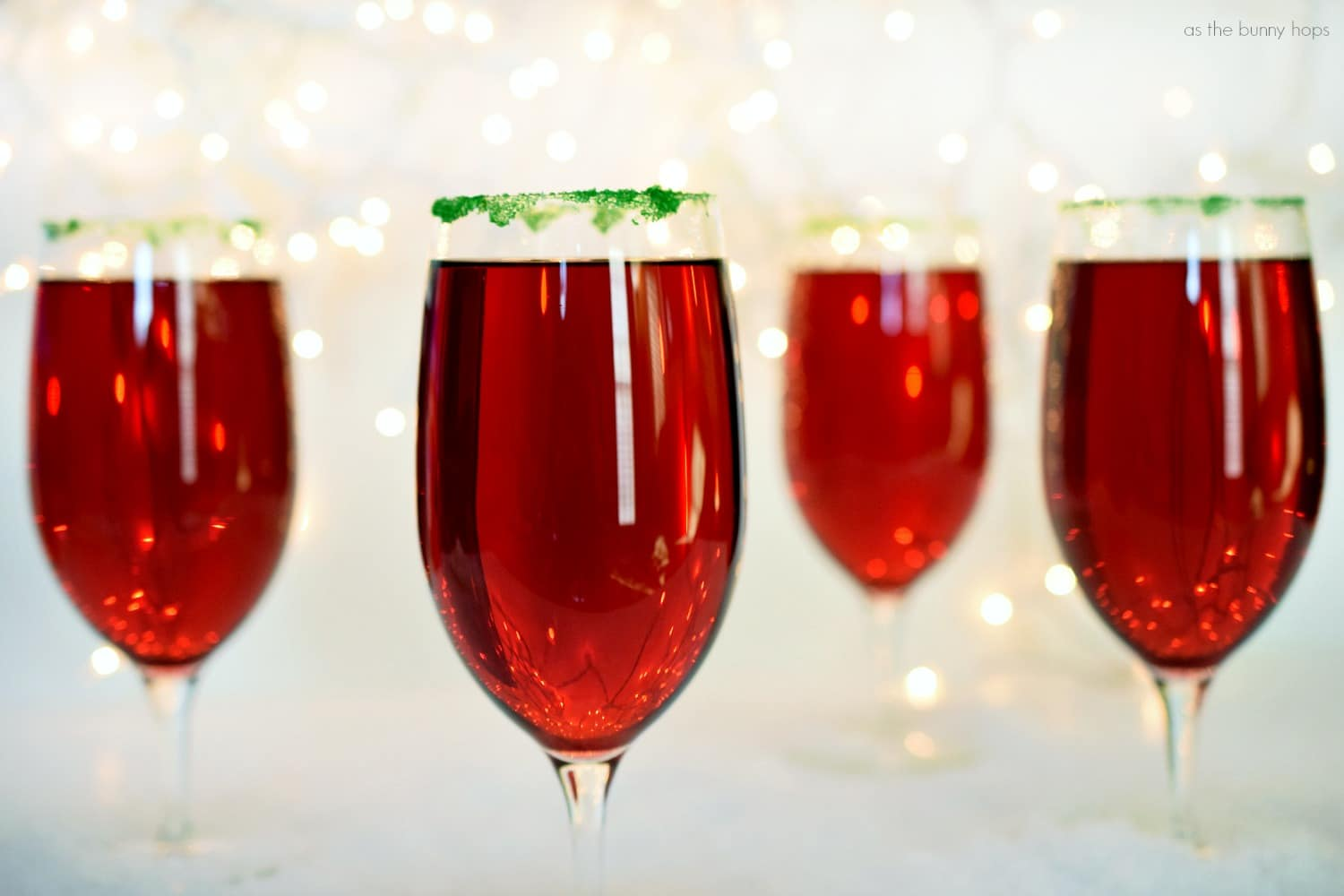 Two ingredient Cranberry Pomegranate Sparklers make at the perfect all ...