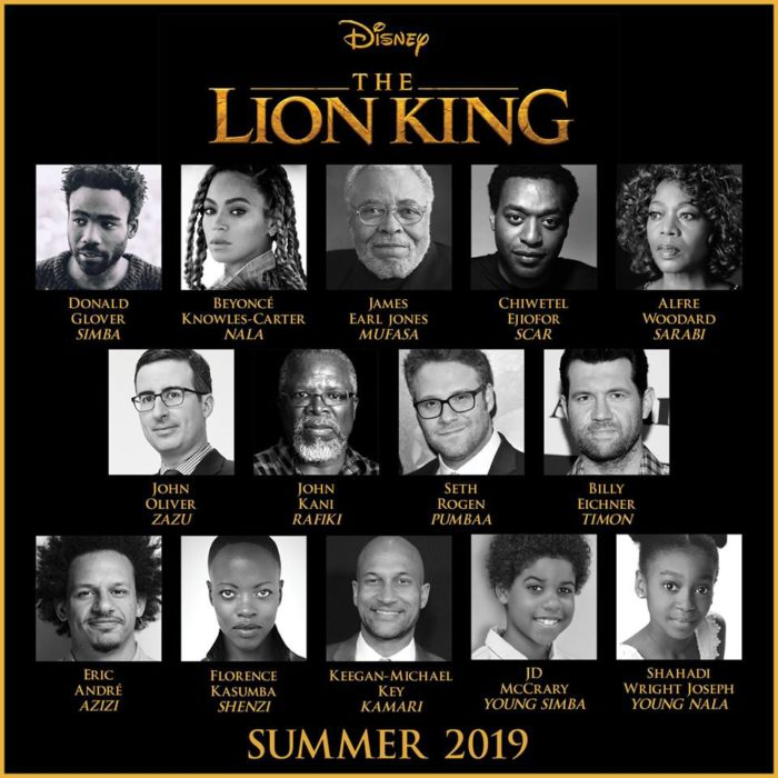 the lion king film cast 2018 science