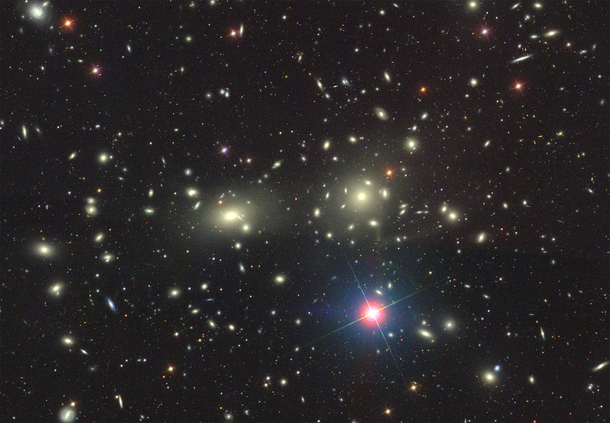 A Mammoth Cluster of Galaxies Sighted in the Early Universe