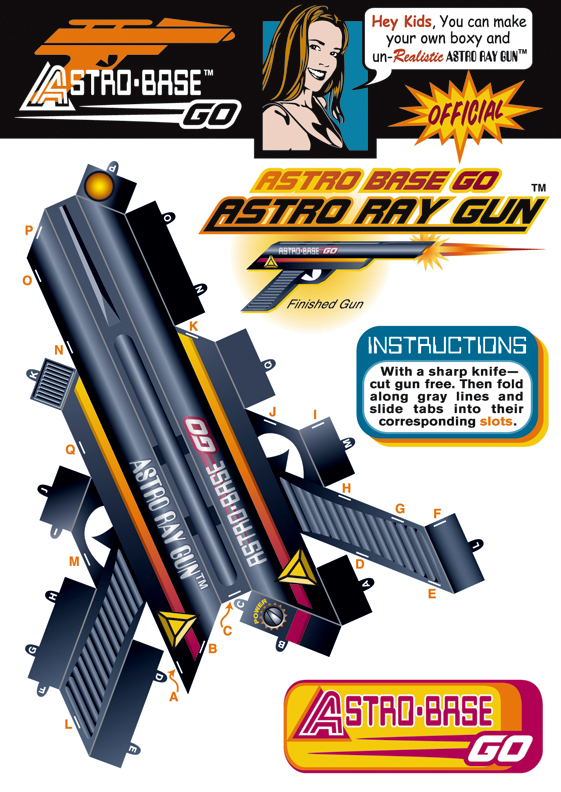 Gun templates papercraft