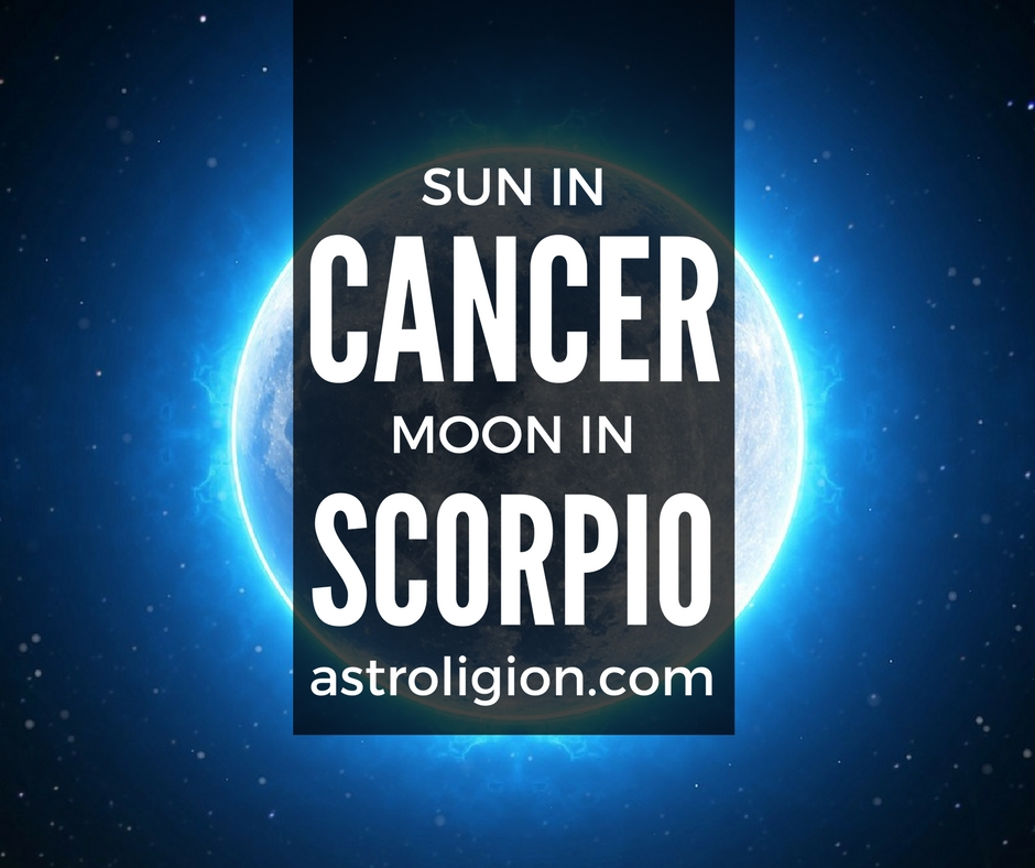 Cancer Sun Scorpio Moon astroligion