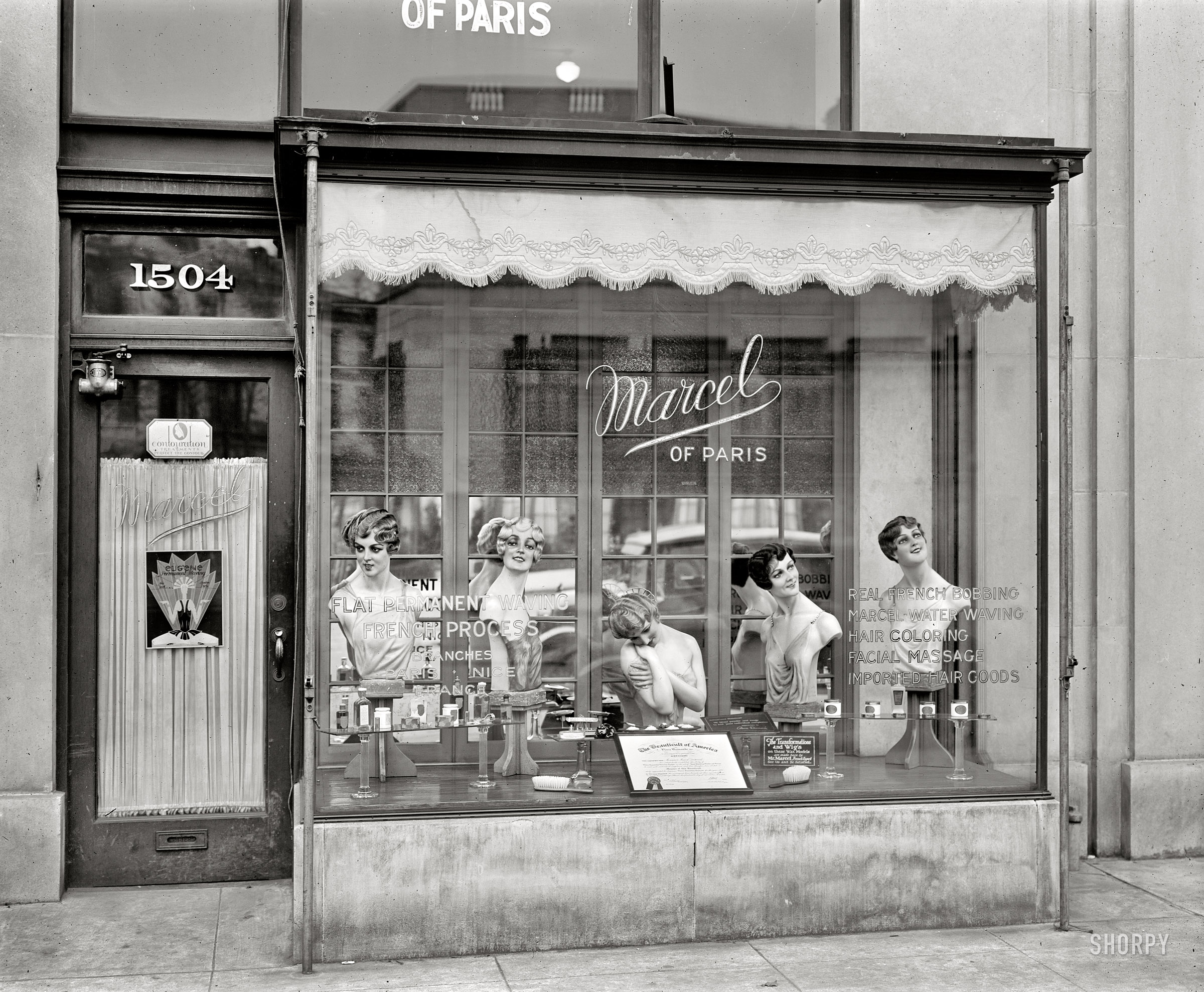 Hair Salon In Paris Marcel Of Paris Hair Salon In Washington Dc 1926 Swing
