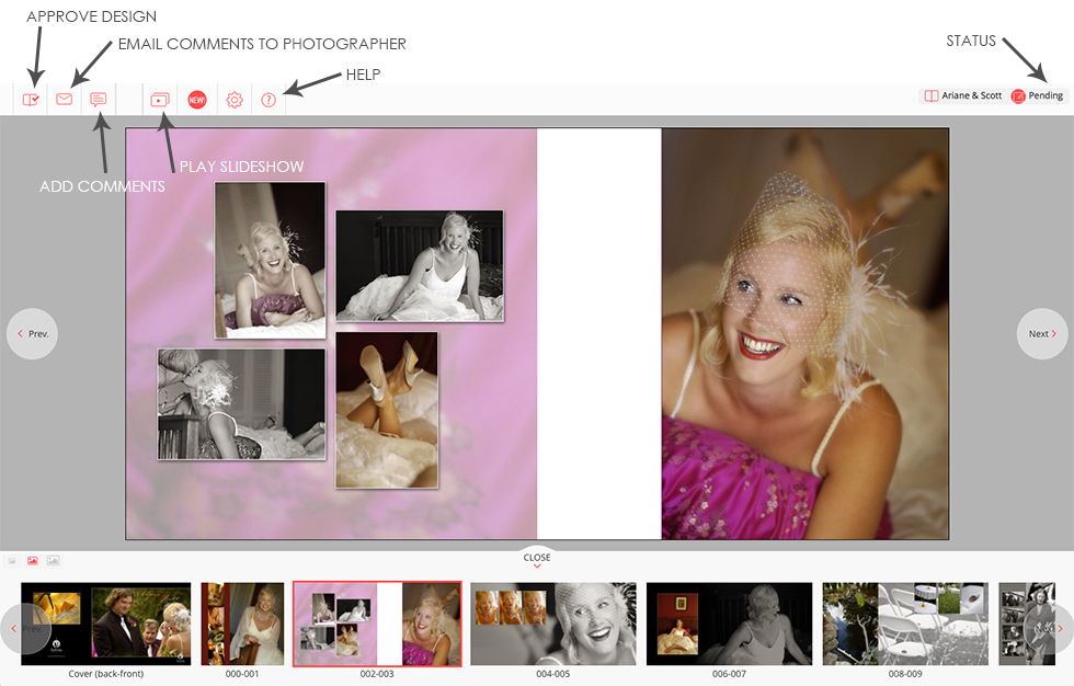 Free Online Album Proofing for Professional Photographers and