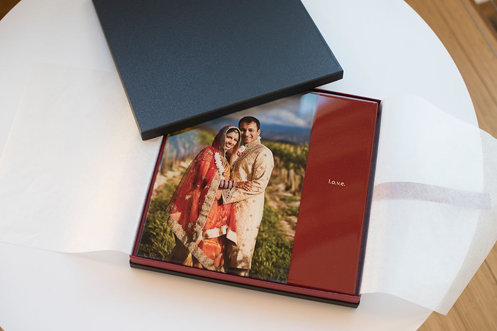 Cosmopolitan Acrylic Covered Album and Case for Professional Photo