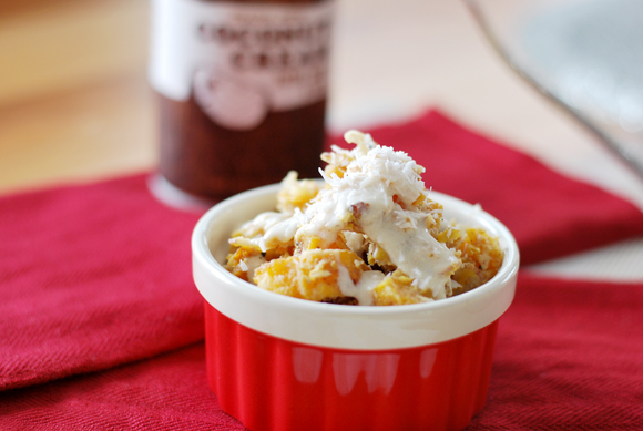 Roasted Squash with Coconut Cream Dressing
