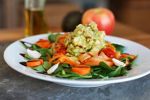 Chicken Apple Guacamole Salad