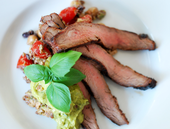 You'll want to thinly slice the flank steak against the grain of the ...