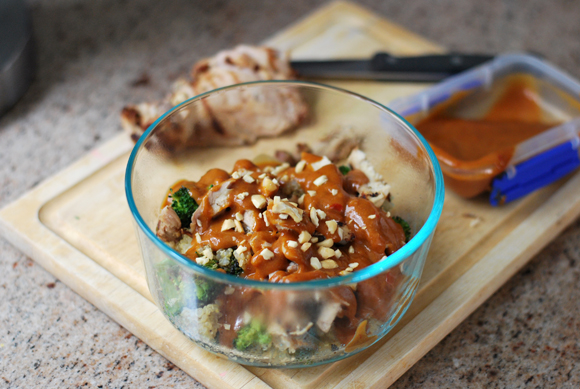 Chicken & Broccoli with Sweet Peanut Sauce