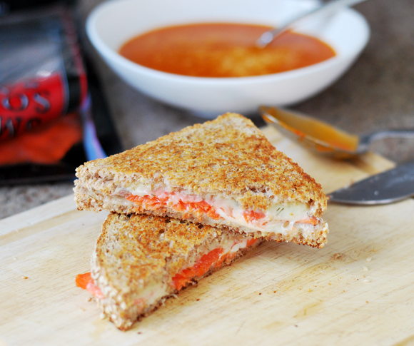 Smoked Salmon & Dill Grilled Cheese