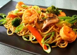 Dashing Spaghetti Squash Oil Shrimp Lo Mein Easy Shrimp Lo Mein Broccoli Lo Mein Lowfat Recipe Shrimp Broccoli Lo Mein A Tablespoon Shrimp