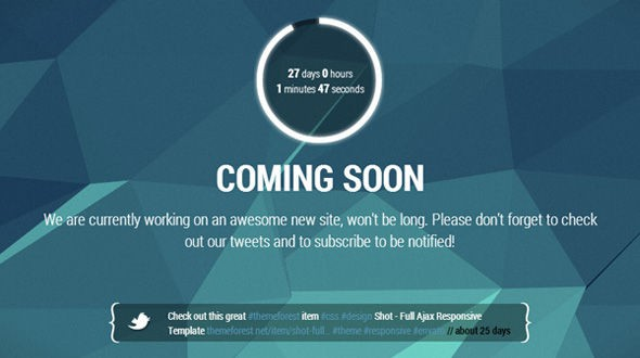 25 Best Coming Soon HTML5 Templates (2018)