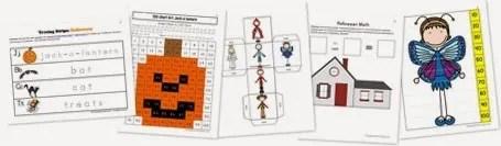 Halloween Kindergarten Extension Pack