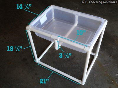 The 30 30 minute do it yourself sensory table a for Diy sand and water table pvc