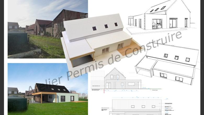 r novation et extension d 39 une grange neuf berquin nord. Black Bedroom Furniture Sets. Home Design Ideas