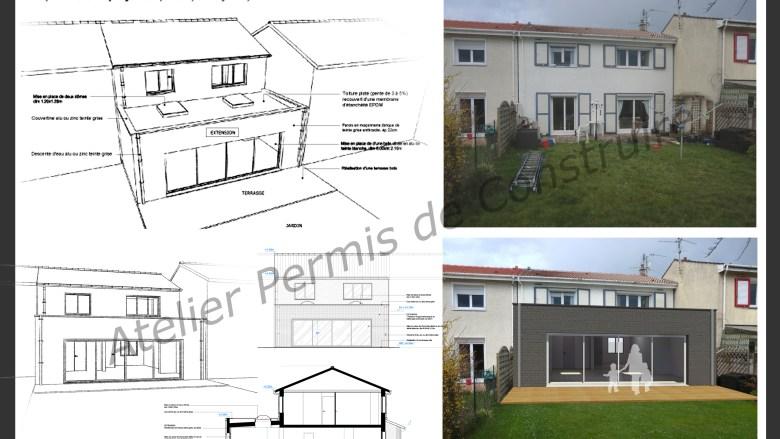 Extension atelier permis de construire - Permis de construire extension ...