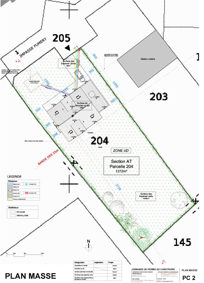 Exemple de permis de construire for Plan de masse maison individuelle
