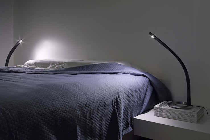 Bed In Slaapkamer Moderne Dimbare Led Leeslampen