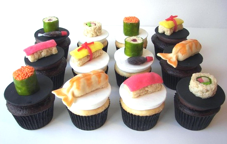 Sushi Cupcakes Aflowerinjapan