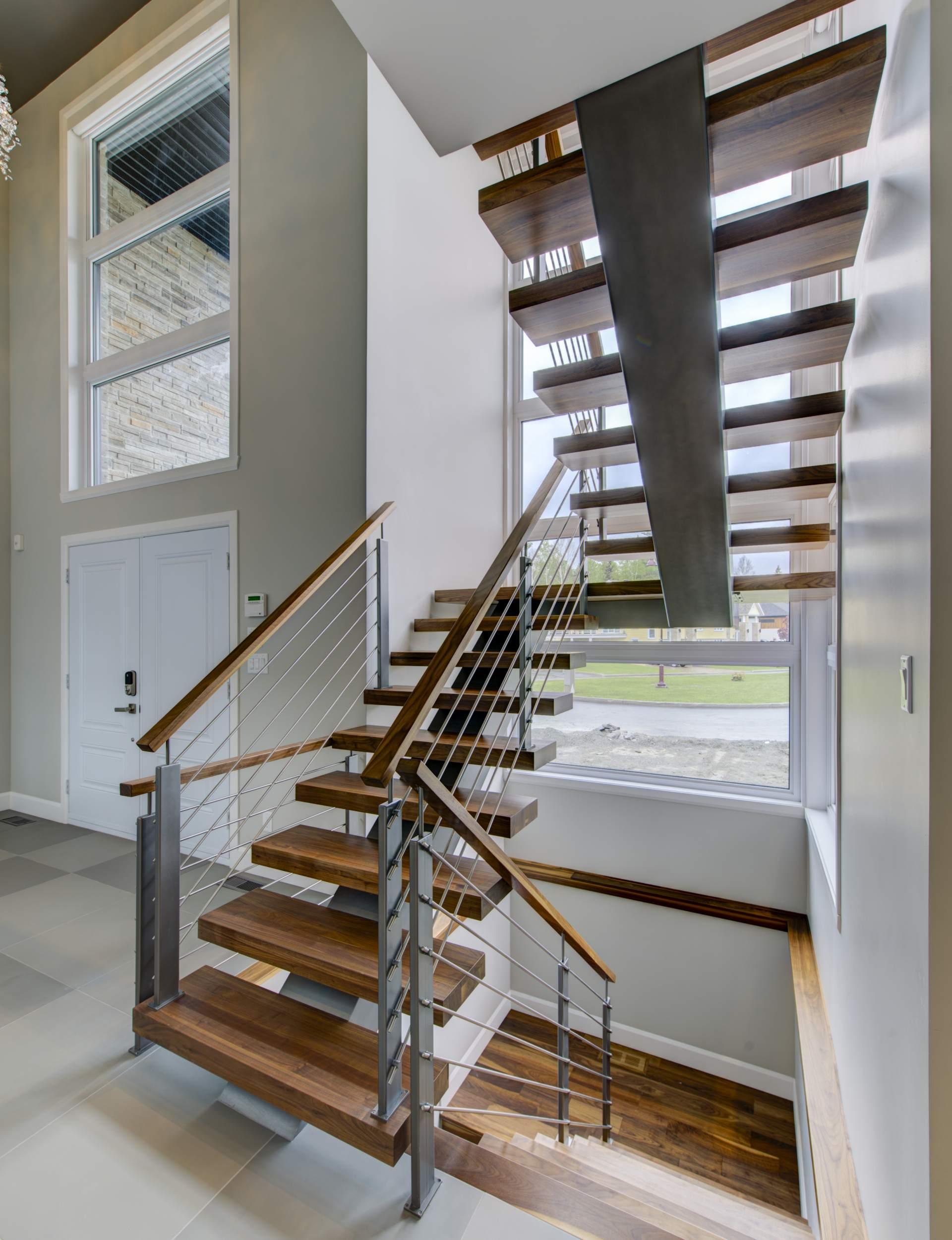 Escalier Bois | Fabrication D 39escalier En Bois à Limon Central Sur ...