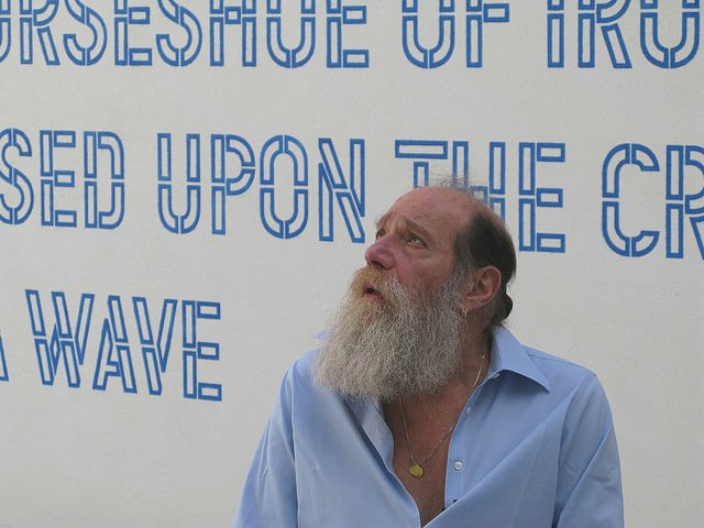 Lawrence Weiner, sculptor?