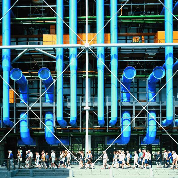 Richard-Rogers-Centre-Pompidou-Colour-Coded-External-Services