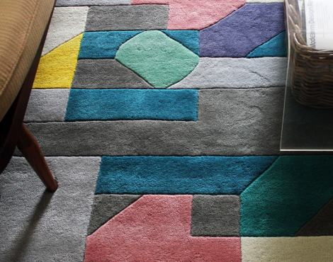 Good design should make you happy. Casa Estudio's Merida Rug for Made.com