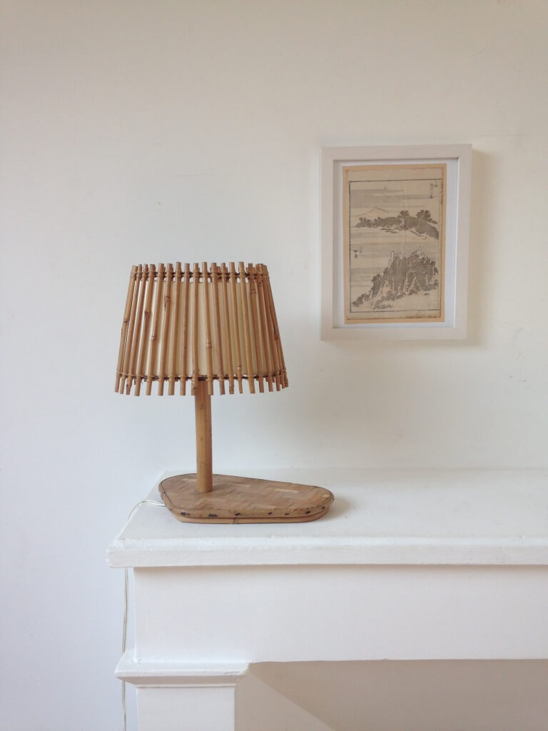 Rattan Lampe Atelier Vime Rattan And Bamboo Marquetry Lamp