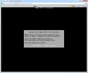 ESXi Installer Welcome Screen