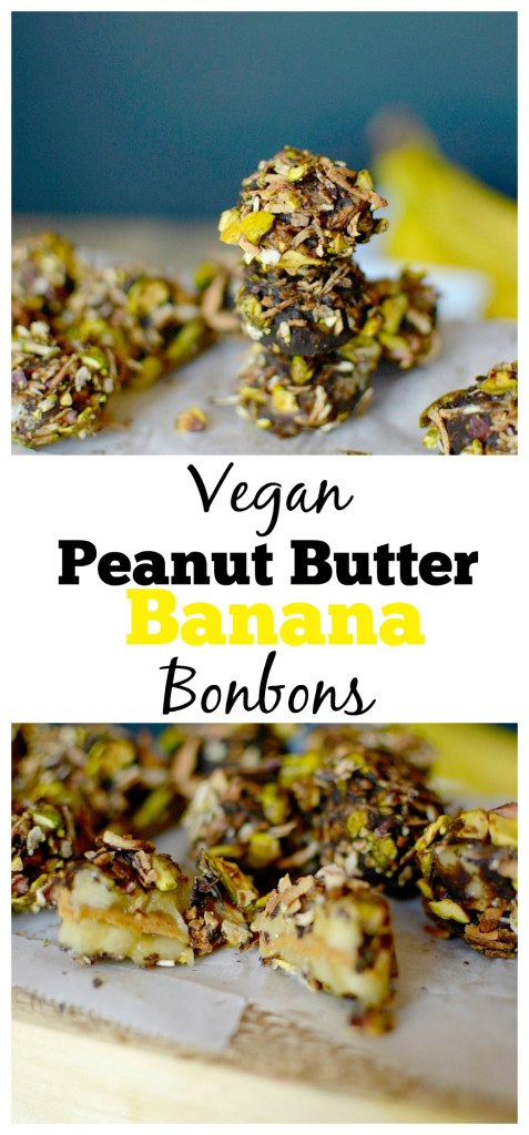 Craving a sweet frozen dessert? Make these easy but secretly healthy Frozen Vegan Peanut Butter Banana Bonbons! They taste like ice cream but are refined sugar-free!