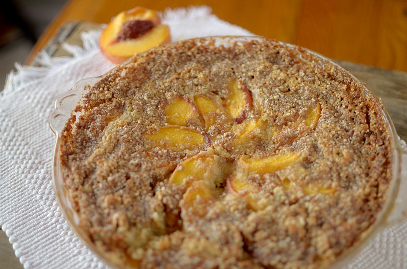 This Paleo Peach Crumb Coffee Cake makes it acceptable to eat cake for breakfast! So easy to make and made with REAL ingredients!