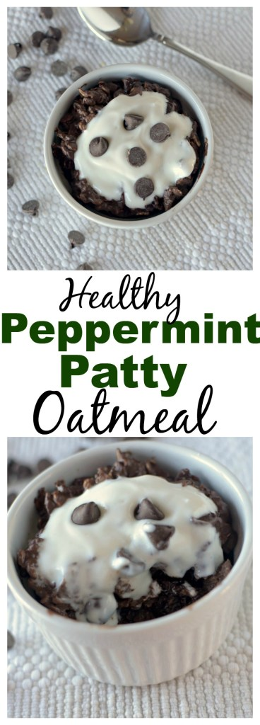 This healthy Peppermint Patty Oatmeal tastes like the classic candy in breakfast form! You'll never want to skip breakfast again! This is GF and has a DF and vegan option!