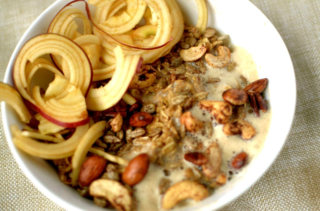 frothy chai spiced oatmeal 4